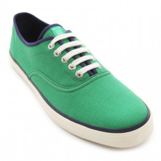 42_Adidasi originali Gant_din panza_verde_tenisi barbati_in cutie, Textil