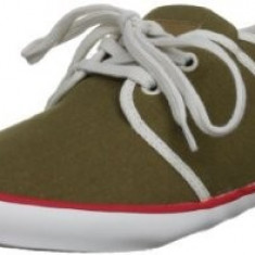 45_Adidasi Pepe Jeans London_tenisi barbati_panza_verde_in cutie, Culoare: Khaki, Textil