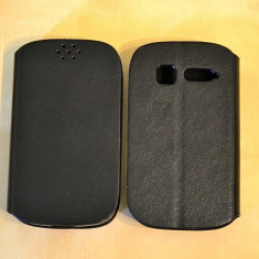 Husa Orange YOMI Alcatel OT-4015 4015D Flip Case Black - Husa Telefon Alcatel, Negru, Piele Ecologica, Cu clapeta, Toc