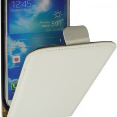 Husa Samsung Galaxy S4 Active I9295 Flip Case Slim Inchidere Magnetica White - Husa Telefon Samsung, Alb, Piele Ecologica, Cu clapeta, Toc