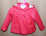 Jacheta Zara baby rosu-fuchsia fetite - 18-24 luni (potrivita pana la 2,5 ani), XS
