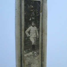 FOTOGRAFIE PE CARTON OFITER DE HUSZARI WW I - Fotografie veche
