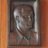 Sculptura lemn - portret - piesa veche de colectie !!!