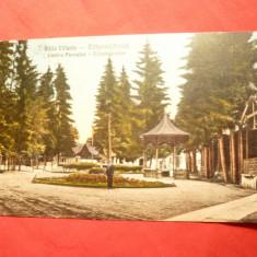 Ilustrata Baile Valcele - Centrul Parcului, Covasna, circ. 1935, stamp.T - Carte Postala Transilvania dupa 1918