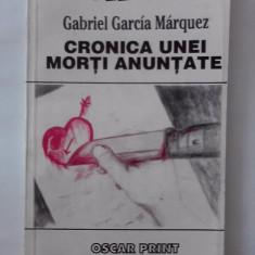 Cronica unei morti anuntate - Gabriel Garcia Marquez / C30P - Roman
