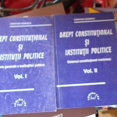 DREPT CONSTITUTIONAL SI INSTITUTII POLITICE TEORIA GENERALA A INSTITUTIILOR - CONSTANTIN DRAGANU, 2 VOLUME ! - Carte Drept constitutional