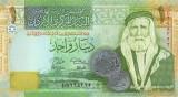 IORDANIA █ bancnota █ 1 Dinar █ 2008 █ P-34d █ UNC █ necirculata