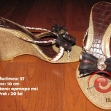 Papuci draguti si eleganti! - Papuci dama, Culoare: Maro, Marime: 37