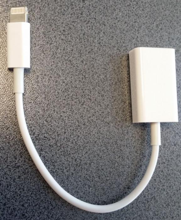 Cablu MICRO USB OTG USB OTG iPhone 5/5S iPad 4 iPad cablu 8 pini foto mare