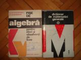 Carti matematica (2 buc.) Fise de algebra pentru elevi si dictionar matematici