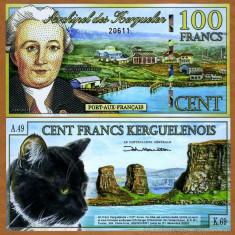 INSULELE KERGUELEN █ bancnota █ 100 Francs █ 2012 █ POLYMER █ UNC █ necirculata