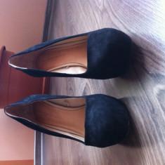 Pantofi dama Zara - Pantof dama Zara, Culoare: Negru, Marime: 41, Negru, Cu talpa joasa