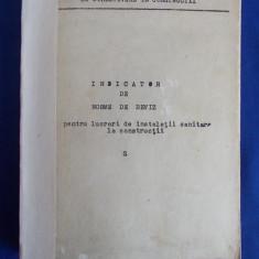 INDICATOR DE NORME DE DEVIZ PENTRU LUCRARI DE INSTALATII SANITARE LA CONSTRUCTII ( S ) - EDITAT DE INCERC - Carti Constructii