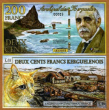 INSULELE KERGUELEN █ bancnota █ 200 Francs █ 2010 █ POLYMER █ UNC █ necirculata