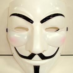 Masca de carnaval - petreceri - reprezentatii  ANONYMUS , calitate f buna, 2 buc /set, Alb, Din imagine