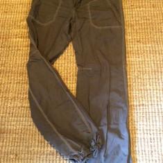 Pantalon dama Timeout, mas. 40 - Pantaloni dama, Culoare: Maro, Lungi, Bumbac