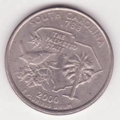 (M3) - MONEDA USA - QUARTER DOLLAR 2000 - SOUTH CAROLINA - LIT. P, America de Nord