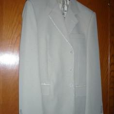 Costum barbati elegant, Marime: 48, Culoare: Khaki, 3 nasturi, Marime sacou: 48