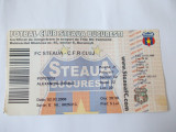 BILET MECI FORBAL FC STEAUA - CFR CLUJ , 02.03.2008