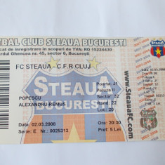 BILET MECI FORBAL FC STEAUA - CFR CLUJ, 02.03.2008