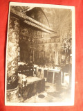 Ilustrata Manastirea Horezu - Pronaosul Bisericii , interbelica , Foto Stelian Popescu