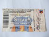 BILET MECI FOTBAL STEAUA -GALATASARAY  27.08.2008 ,turul 3 al calificarii in Uefa Champions League din 27.08.2008.