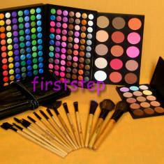 Trusa machiaj Mac Cosmetics 183 culori MAC + set 15 pensule make up Bobbi Brown + fond de ten