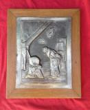 Frumos tablou cu scena in relief - Cupru + Zinc !!!