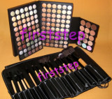 Trusa machiaj 120 culori MAC + set 15 pensule make up par natural + fond de ten