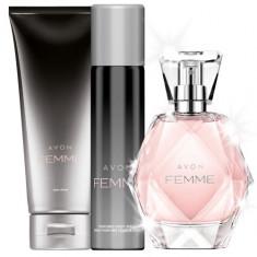 Apa de parfum AVON Femme 50ml +deodorant+crema de corp - Set parfum