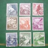 Germania 1938 cladiri si flori mi 675-683 stamp.