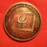 Medalie ONU -UNPA - Pinguini 2002, argint 999/mie, 15, 1g