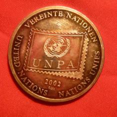 Medalie ONU -UNPA - Pinguini 2002 ,argint 999/mie ,15,1g