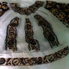 Camasa populara, zona Bucovinei - Costum populare, Marime: L/XL, Culoare: Alb, L/XL, Alb