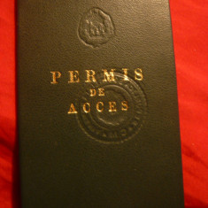 Permis de Acces la Consiliul de Ministri 1974 RSR - Pasaport/Document