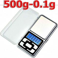 CANTAR BIJUTERII 0.1g - 500g + 2 baterii