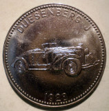 7.648 GERMANIA JETON AUTO AUTOMOBIL DUESENBERG J 1928 30mm