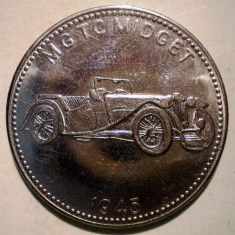 7.646 GERMANIA JETON AUTO AUTOMOBIL MG TC MIDGET 1945 30mm - Jetoane numismatica
