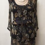 Bluza / Tunica din voal gofrat, marime S