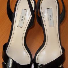 Sandale ZARA nr 36 - Sandale dama Zara, Culoare: Negru, Negru