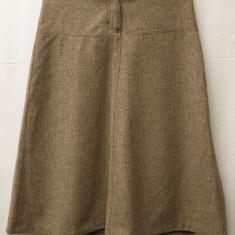 Fusta tweed, marimea 38 de la H&M, Midi, Forma A