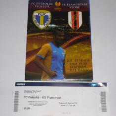 Bilet + program meci fotbal Europa League 17.07.2014 PETROLUL Ploiesti - FLAMURTARI Vlore (Albania) - Bilet meci