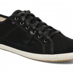 40_Adidasi originali Le Coq Sportif_tenisi barbati_panza _piele naturala_cutie, Culoare: Negru, Textil