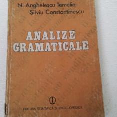 ANALIZE GRAMATICALE - Certificare