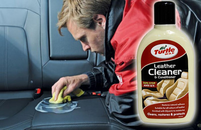 Solutie Curatare si Intretinere Tapiterie Piele Turtle Wax Leather Cleaner foto