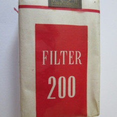 PACHET NOU TIGARI COLECTIE FILTER 200 DIN ANII 70 - Pachet tigari