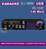 STATIE CU MIXER SI MP3 PLAYER INCORPORAT,KARAOKE,140 WATT+MICROFON BONUS !