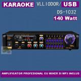 STATIE CU MIXER SI MP3 PLAYER INCORPORAT, KARAOKE, 140 WATT+MICROFON BONUS ! - Amplificator audio, 121-160W
