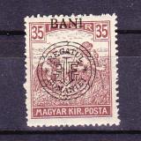 """Timbre ROMANIA 1919 = EMISIUNEA ORADEA, SUPRATIPAR """"REGATUL ROMANIEI"""" PE SECERATORI 35 BANI, MNH"""