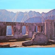 MOKAZIE !!!! HOPCT 8145 PERU MACHUPICCHU-TEMPLUL CELOR 3 FERESTRE [AMERICA DE SUD ], America Centrala si de Sud, Necirculata, Printata